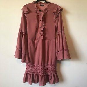 BNWT Lumie Ruffled shirt dress